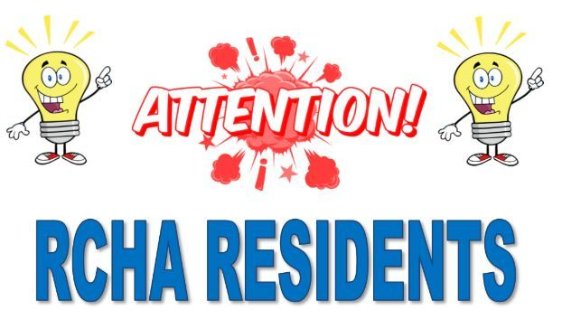 Attention Residents graphic